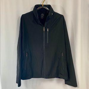 Mens Tumi Tech Zip Front Wind Jacket Hidden Hood